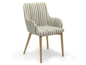 Sidcup retro duck egg blue striped dining room chair