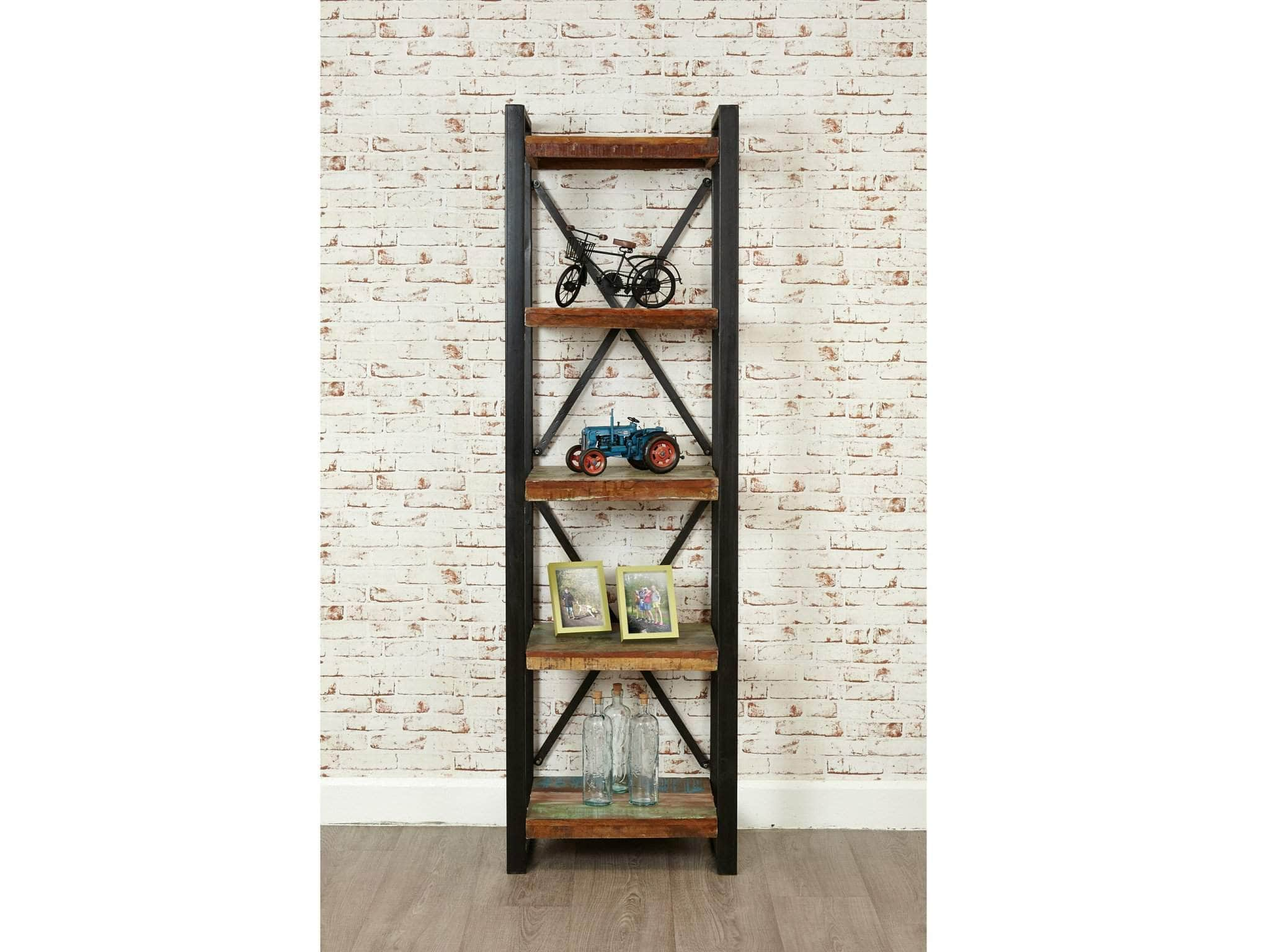 Small Reclaimed Wood Bookcase; Small Reclaimed Wood Bookcase Front View