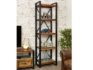 Asia Reclaimed Wood Bookcase - Narrow