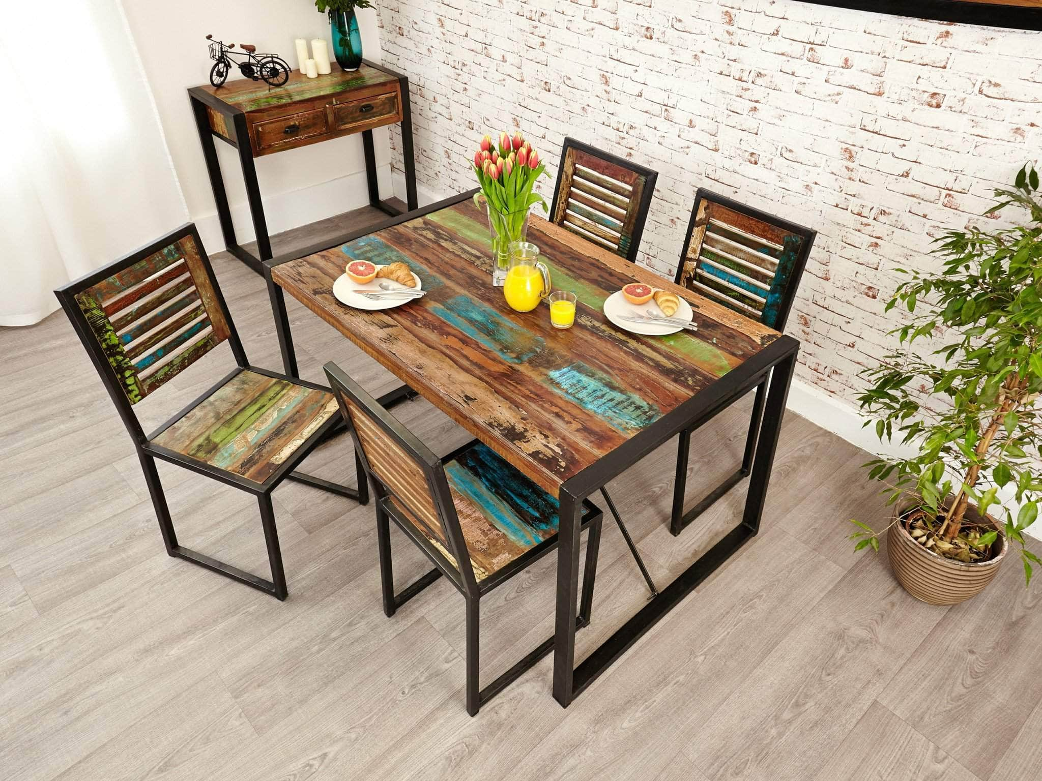 Small Reclaimed Wood Dining Table | Unni & Evans