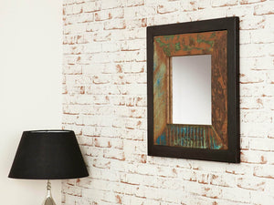 Asia Reclaimed Wood Mirror - Small