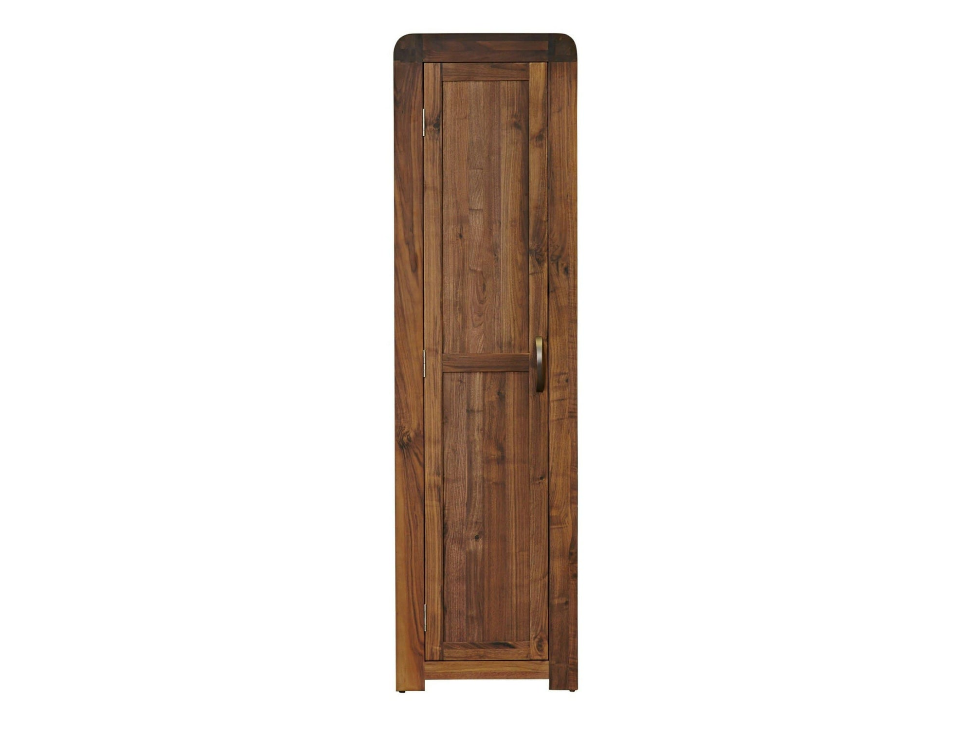 Tall and narrow dark wood shoe cabinet