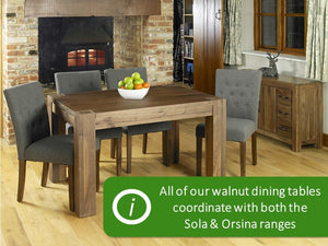 Solid Walnut Dining Table - Small