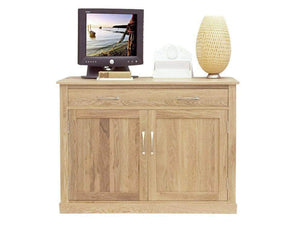 Solid oak hideaway desk, ideal for home offices