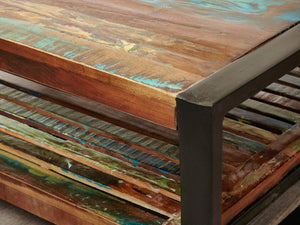 Asia Reclaimed Wood Coffee Table - Square