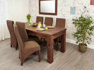 Orsina walnut extended dining table