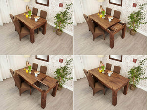Solid Walnut Dining Table - Extendable