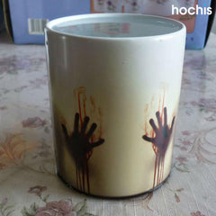The Bloody Hands Zombie Heat Change Mug