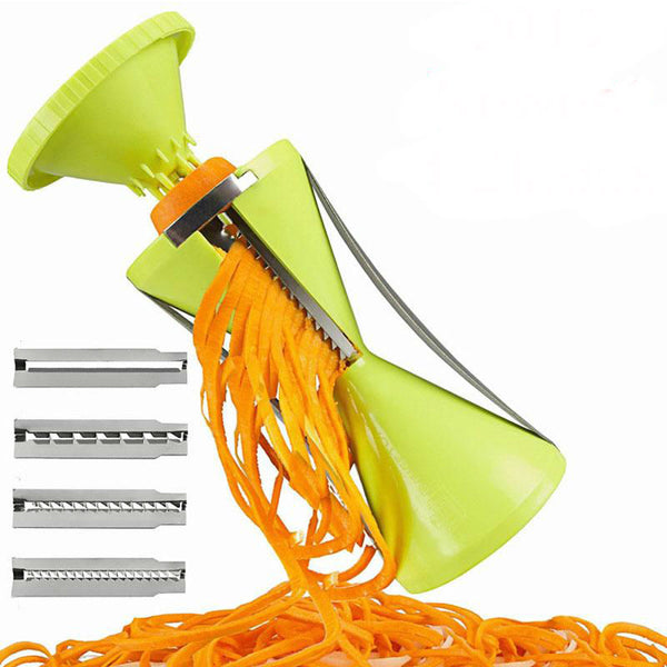 4 Blade Replaceable Vegetable Spiral Slicer Cutter