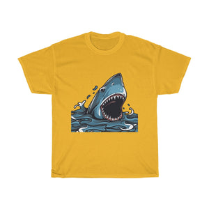 Open Wide Shark Unisex Heavy Cotton Tee