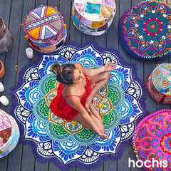 Mandala Lotus Round Beach Towel/Blanket