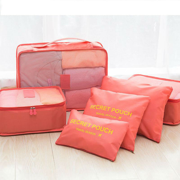 6 PCS Travel Portable Organizer Bag