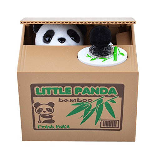 Cute Panda Stealing Coin Money Box