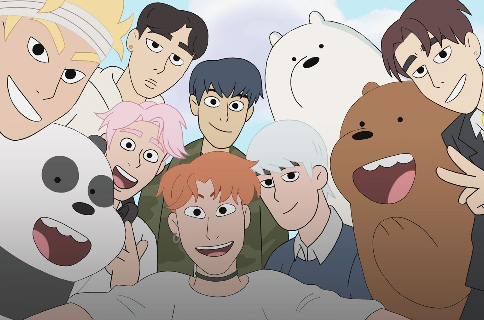 MONSTA X & We Bare Bears