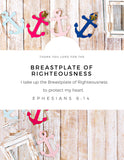 "Wall Art Armor of God Declarations (Printable 7 page 8x10"") Nautical"