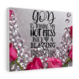 Canvas Wall Art - Blazing Message 8x10