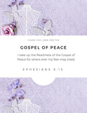 "Wall Art Armor of God Declarations (Printable 7 page 8x10"") Purple"