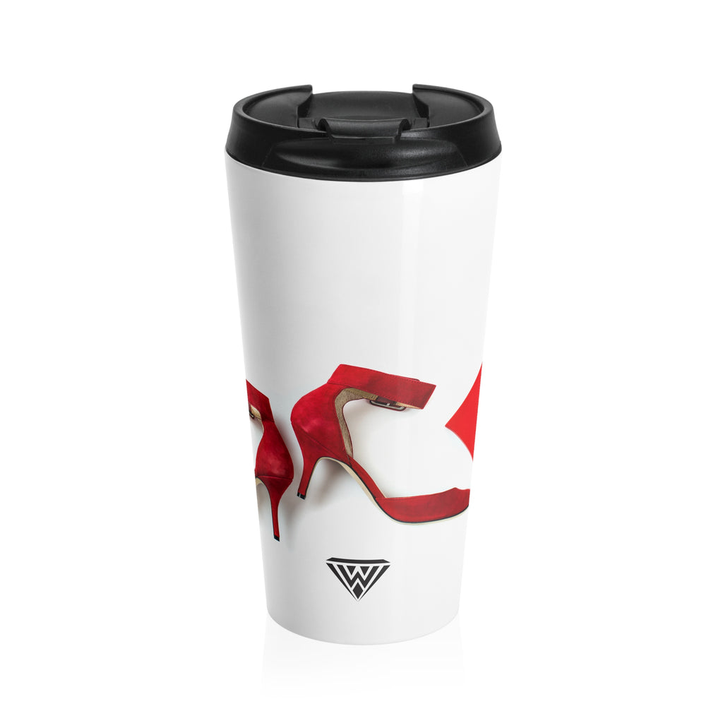Stainless Steel Travel Mug (Red Heels Dream)