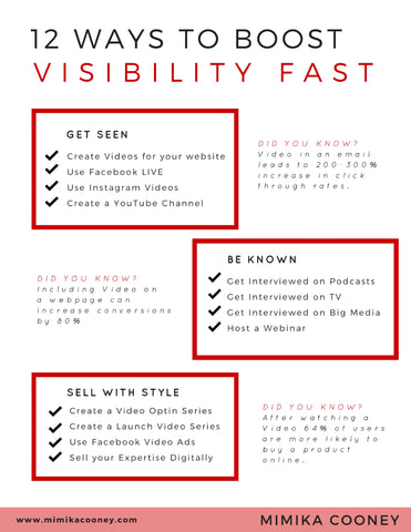 TRAINING 12 Ways to Boost Visibility Fast (Printable Checklist)