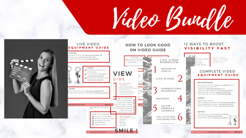 Video Bundle: How to Look Good on Camera & Boost your Visibility (PDF's)
