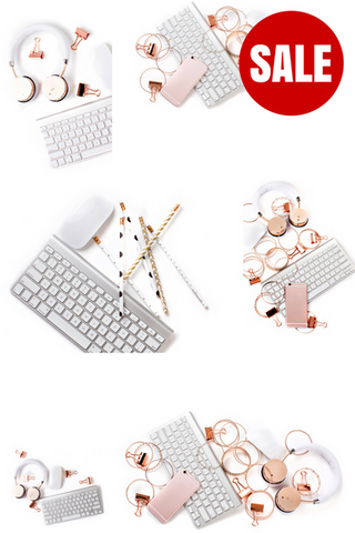 Stock Photo BUNDLE (Set of 10) Rose Gold Desktop