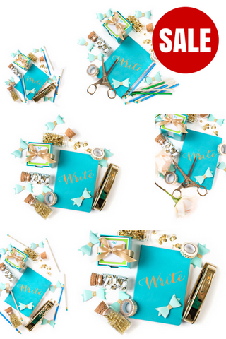 Stock Photo BUNDLE (Set of 10) Turquoise Journal