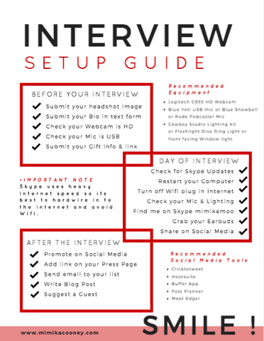 TRAINING Interview Setup Guide (Printable Checklist)