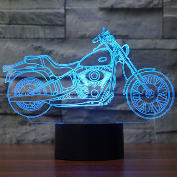 LIMITED EDITION 3D FREEDOM BIKER LED LAMP
