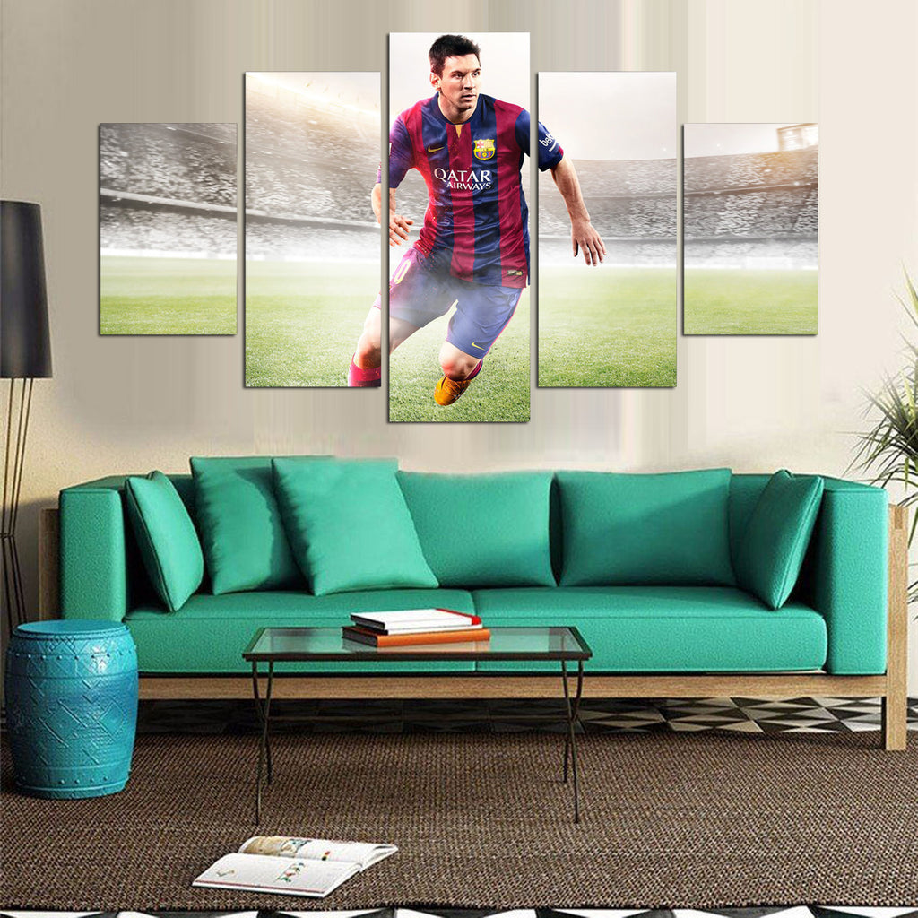 LIONEL MESSI - 5PC PANEL PAINTING