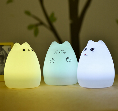 ADORABLE CAT OMBRE NIGHT LIGHT