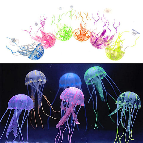 Accessories - Fish Tank Ornament - Artificial Glowing Jellyfish
