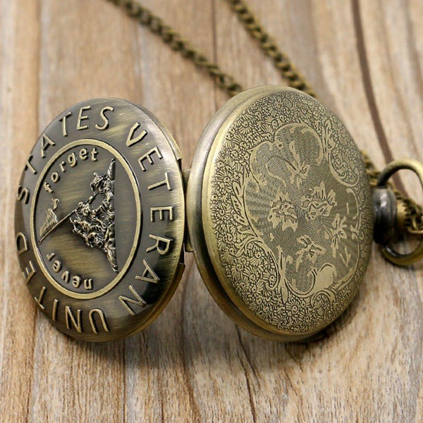 Accessories - Never Forget United States Veteran Bronze Pocket Watch