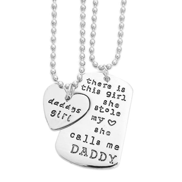 Accessories - There Is This Girl Pendant Necklace For DADDY/GRANDPA/GRANDMA