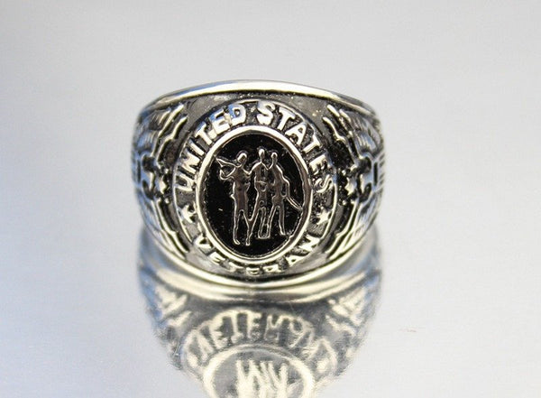 Accessories - Vintage United States Veteran Stainless Steel Ring