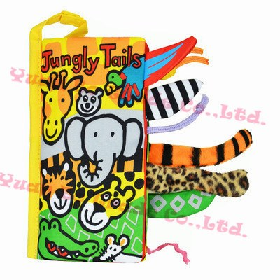 Activities & Toys - Animal Tails Cloth Activity Books  *New*