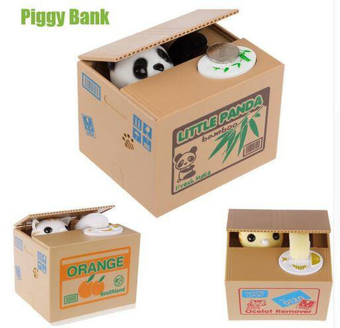 Cat Thief Coin Bank