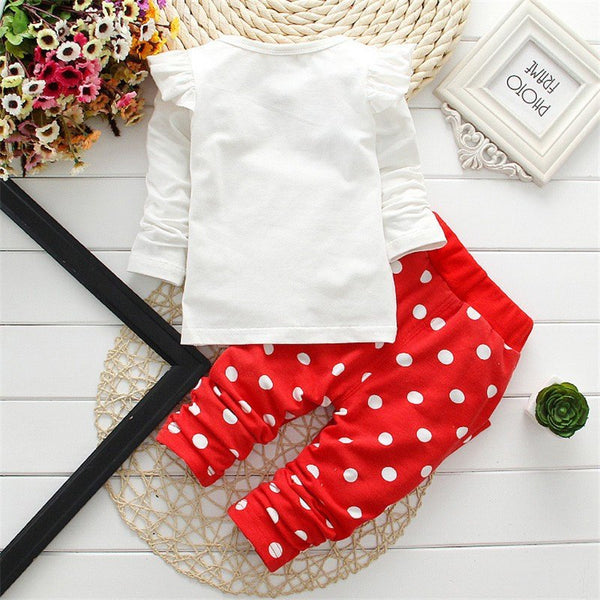 Clothing & Apparel - Fashionable Baby Girl Clothing Set (Top And Bottom)