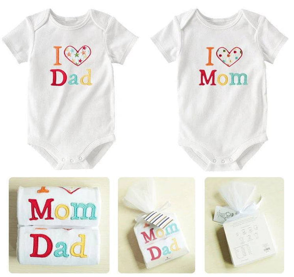 Clothing & Apparel - I LOVE MOM/DAD Baby Rompers, 2-pack