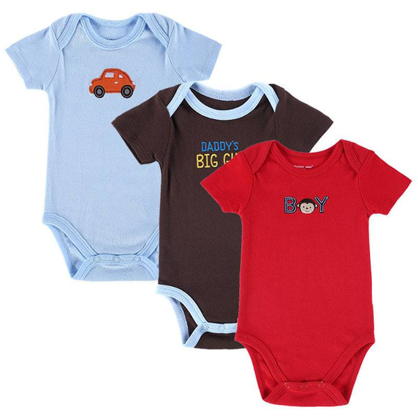 Clothing & Apparel - Mother Nest Baby Rompers, 3-pack