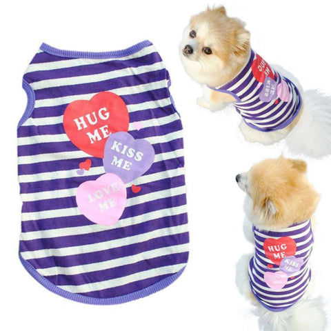 Clothing - HUG KISS LOVE Doggy T-shirt