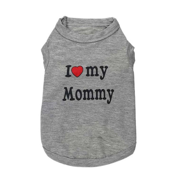 Clothing - I LOVE My Mommy/Daddy Dog T-shirts