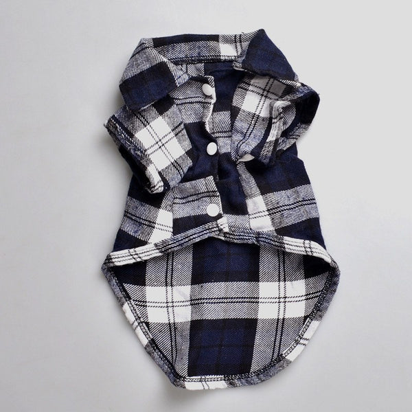 Clothing - Pet Checkered Plaid Shirt