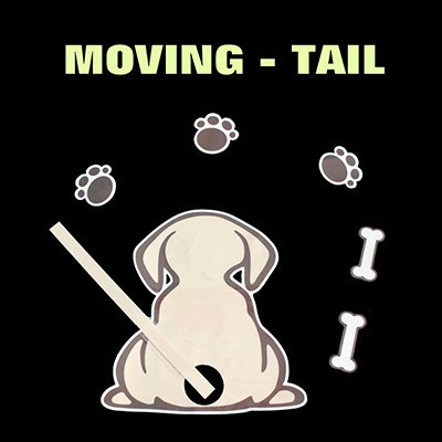 Decal - Rear Wiper Dog Moving Tail