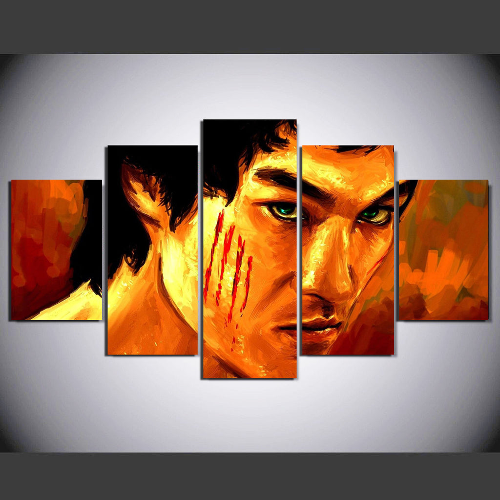 BRUCE LEE - 5PC PANEL PAINTING