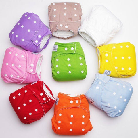 Diapering - Summer/Winter Polka Dotted Baby Reusable Diaper