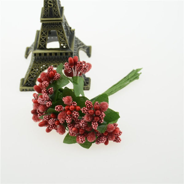 Festive & Party Supplies - Berry Flower Decorations, 12-pieces