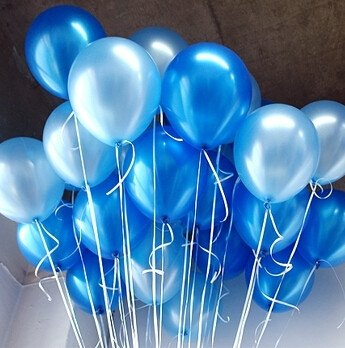 Festive & Party Supplies - Blue Party Balloons, 10-pieces