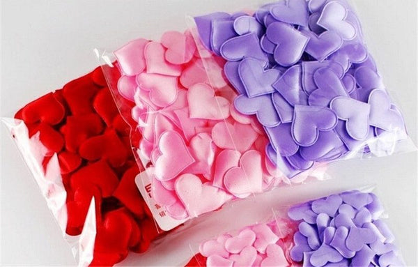 Festive & Party Supplies - Wedding Party Confetti (Fabric Hearts), 100-pieces