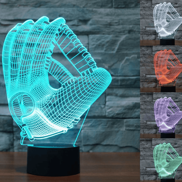 LIMITED EDITION 3D BASEBALL GLOVE LED LAMP