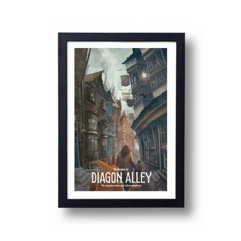 Limited Edition Diagon Alley Canvas Painting